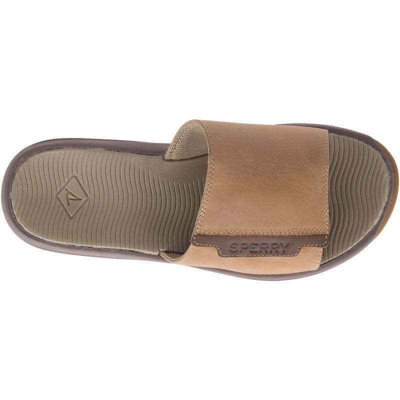 Mens Sperry White Cap Slide Sandal Tan